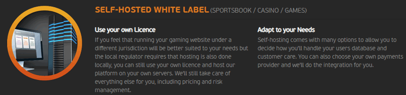 gaming synergies self hosted white label