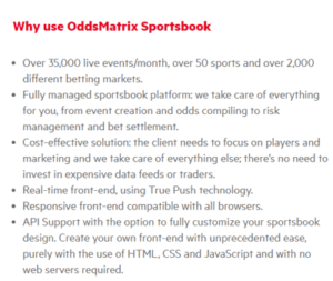 oddsmatrix sportsbook why use it