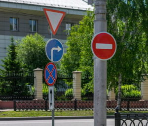 obvious error contradiction of traffic signs