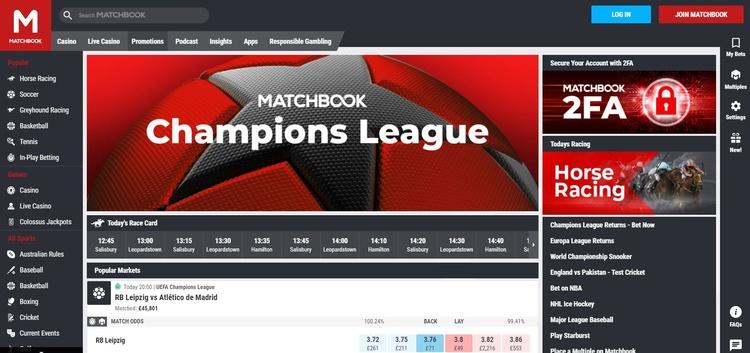 Matchbook Website