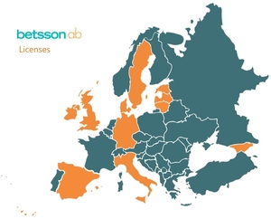 Betsson Licenses Map