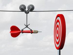 dart hitting bullseye