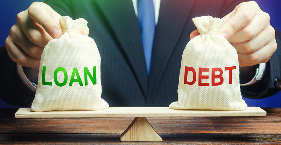 loans and debt on a balance