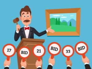 selling at an auction