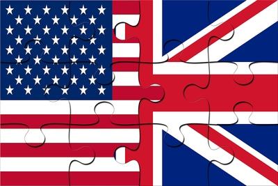 USA UK Flag Jigsaw