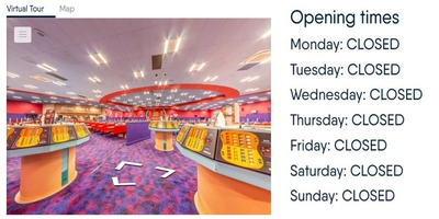 Bingo Hall Closed