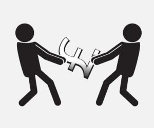 dead heat two people fighting over money