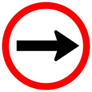 straight street sign