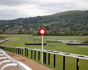 winning post at a racecourse