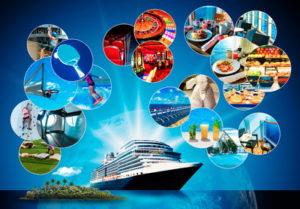 cruise ship advert showing casino games