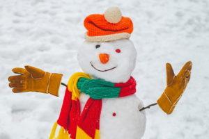 snowman dressed up
