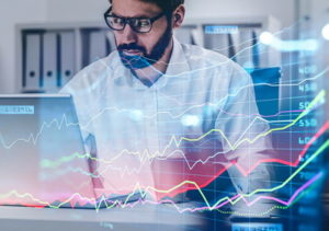 trader analysing markets